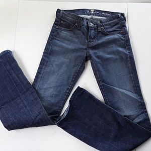 7 FOR ALL MANKIND WOMEN'S JEANS BOOTCUT SZ 25